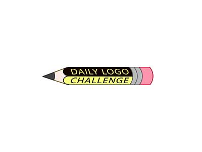 Daily Logo Challenge - Pencil Logo logodlc minimal illustrator vector flat 50daylogochallenge 50dailylogochallenge logo dailylogochallenge