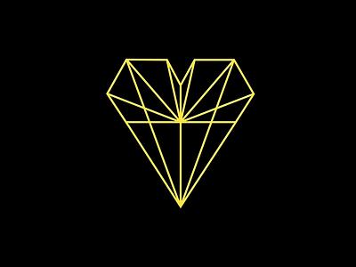 Daily Logo Challenge - Geometric Logo daily logo challenge heart geometry geometric logo geometric minimal 50daylogochallenge 50dailylogochallenge dailylogochallenge logo