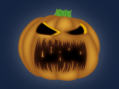 Halloween Pumpkin vector illustration halloween design weekly warm up illustrator spooky scary pumpkin halloween weeklywarmup