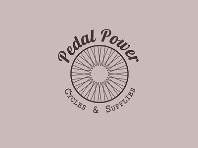 Daily Logo Challenge - Pedal Power minimal flat daily logo challenge daily logo illustrator 50daylogochallenge 50dailylogochallenge dailylogochallenge logo