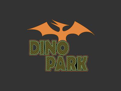 Daily Logo Challenge - Dino Park dino prehistoric jurassic dinosaur daily logo flat daily logo challenge 50daylogochallenge 50dailylogochallenge dailylogochallenge logo