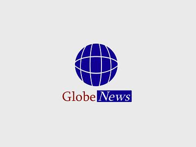 Daily Logo Challenge - Globe News news tv design daily logo minimal flat daily logo challenge logo 50daylogochallenge 50dailylogochallenge dailylogochallenge