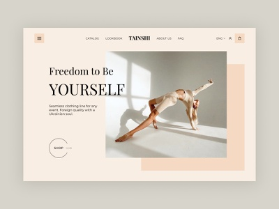 TAINSHI landing homepage design web design web ui ux fashion design ecomerce