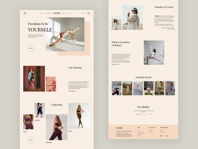 TAINSHI - Landing page webdesign homepage landing ui ux web design fashion design ecomerce