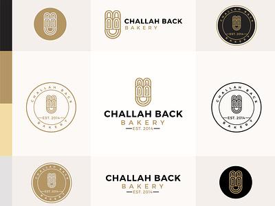 Challah Back Bakery luxury bread food bakery gold branding design challah logo