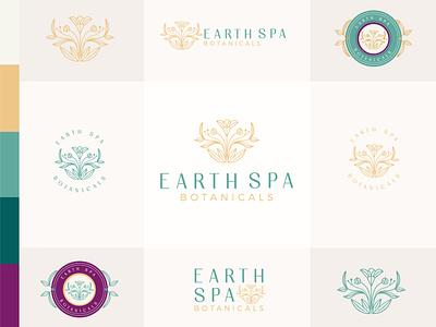 Earth Spa vector design branding design branding beautiful flawless nature earth spa woman luxury flower logo