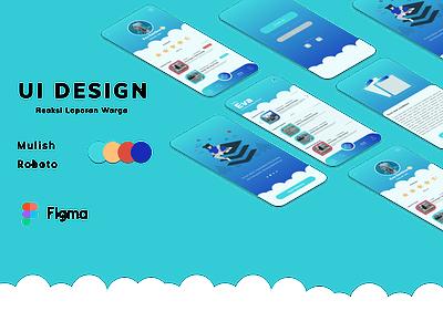 Reaksi Laporan Warga typography ui ux illustration app ui design serang banten serang banten indonesia banten