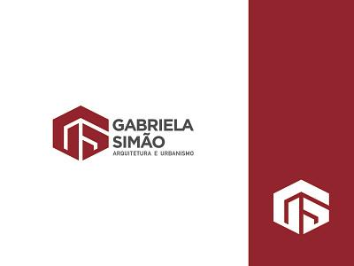 Gabriela Simão Arquitetura e Urbanismo branding minimalism logo arqchitecture