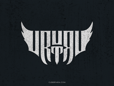 Urutau wing ambigram metal thrash brazil music band rock urutau