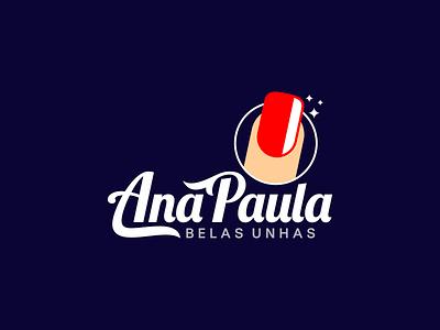 Ana Paula Manicure blue red unhas nail manicure