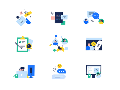 Email signatures character pack series wix email signatures ui illustration motion graphics motion design animation