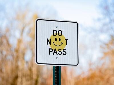 Intruder ツ smiley smile road sign signage sign graphic design design illustration motion graphics motion design animation