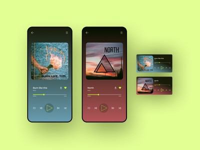 UI Daily 009 - Music player music player figma uidailychallenge uidaily ui design