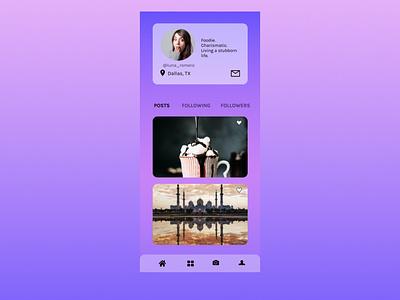 User Profile user profile figma dailyui dailyuichallenge