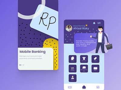 Mobile Banking Application ux vector ui illustrator illustration graphic design flat design art app