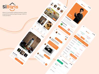 Sillaris - Aplikasi Pelaris UMKM ui design shop e-commerce umkm ux mobile design app ui