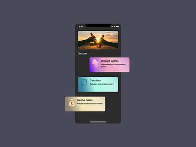 Drinking App Design social media ui app design