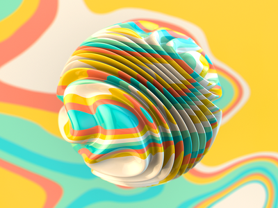 Trippin' Series 1 of 4 eye candy candy beautiful hyper color color 3d render c4d maxxon cinema4d