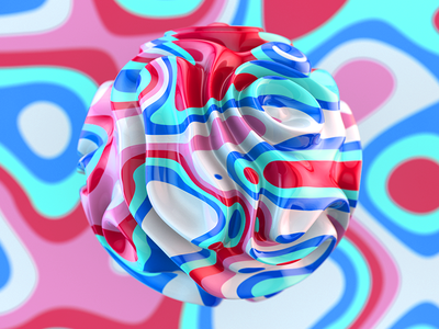 Trippin' Series 2 of 4 eye candy candy beautiful hyper color color 3d render c4d maxxon cinema4d