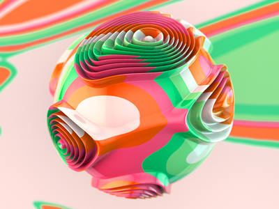 Trippin' Series 3 of 4 eye candy candy beautiful hyper color color 3d render c4d maxxon cinema4d