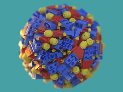 Lego Ball ball lego dynamics render 3d cinema4d