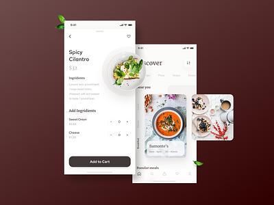 Homes Food Delivery UI Kit home menu cards healthy delivery food typography bold ux ui fresh digital minimal clean ios app design