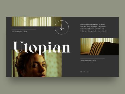Lifestyle images grid simple clean visual web typography bold brand lifestyle minimal layout digital design ux ui