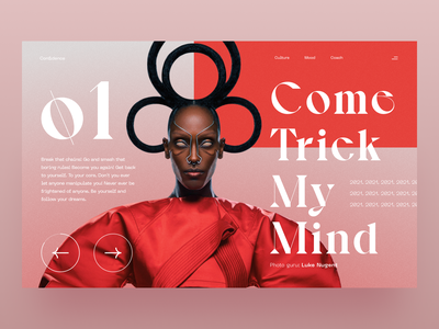 Confidence minimal images clean simple app typography landing website gradient product artdirection layout bold brand visual design digital ux ui