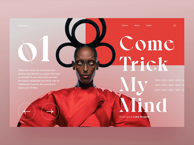 Confidence bold brand visual web artdirection image digital animation gradient website simple landing typography app ux ui clean images product design