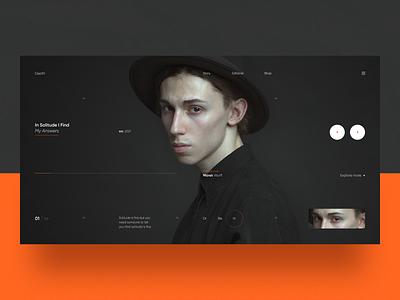 Depth simple app landingpage web images visual bold brand digital typogaphy product artdirection clean minimal layout design ux ui