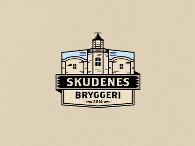 Skudenes Dribbble emblem vintage retro lighthouse beer brewery logo logo illustration logo design badges logo badges