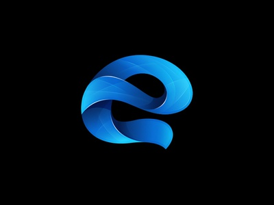 Letter E line icon shape blue letter e gradient design logo onstruction