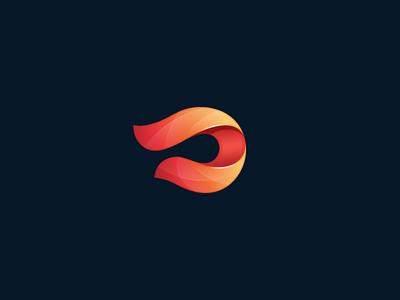 wavy gradient strip wavy gloss shadow gradient abstract mark icon logo design logo