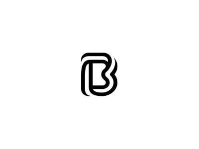 Letter B symbol smart simple mark logotype logo line icon design b