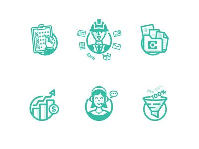 Procore Icon business clean website simple icon design illustration