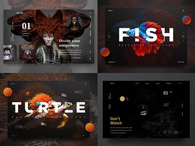 Top 4 of 2018 gradient typography interface website product shadow photography model landing ui brand design 2018 berst
