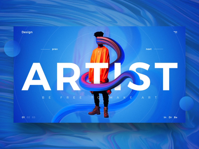 Artist UI web desgin artist simple landing typography ux gradient website ui design abstrack
