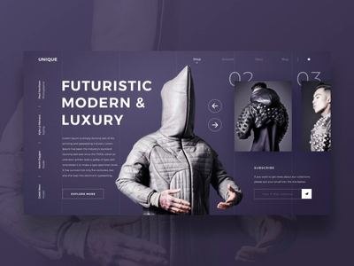 Unique simple design fashion interface design exploration art ui desing animation after effects animatio web design