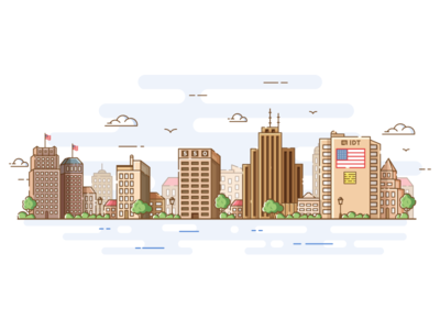 Newark New Jersey Illustration
