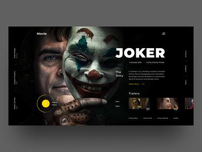 Joker UI explore clean modern typogaphy movie joker product simple ux ui ui design homepage landing cinema concept art web design design experimental