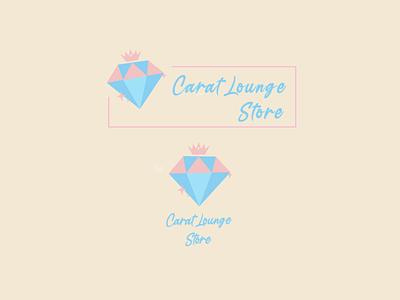 Carat Lounge Logo Design cartoon ux design cute illustration cute art logo typography branding instagram stories illustration