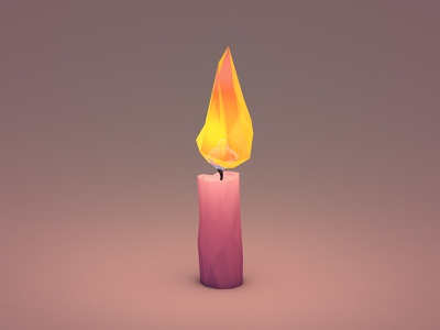 Burning Candle 3d c4d cinema 4d illustration motion stop motion candle fire flame animation render lowpoly