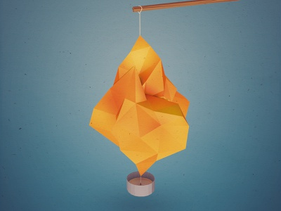 St. Martin's Day Lantern 3d c4d lantern lowpoly illustration render fire candle cinema 4d low poly cgi flame