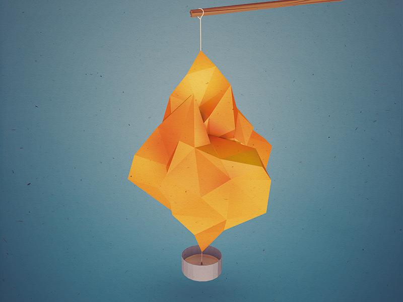 Dribbble lantern