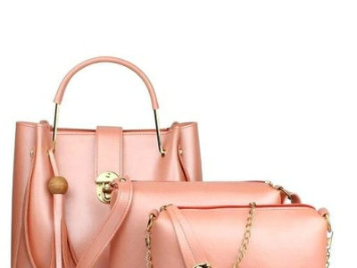 Women's Leather Handbag (Set Of 4)