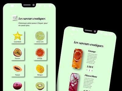 mockup mobile Fabric juin2021 app ui flat design design branding illustration