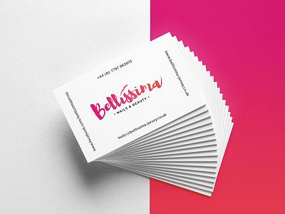 Bellissima Nails & Beauty Logo business card beauty nails print design logo