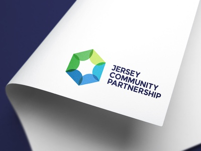 Jersey Community Partnership Logo logo charity logo design