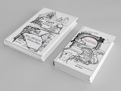 Bill Bryson Book Design print design drawing book cover book design