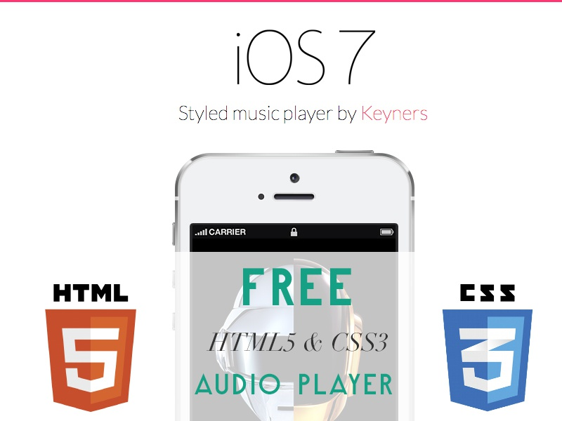 html5&css3 audio player by Łukasz Wakuła - keyners pl | Dribbble